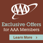 AAA member savings of up to 20% off